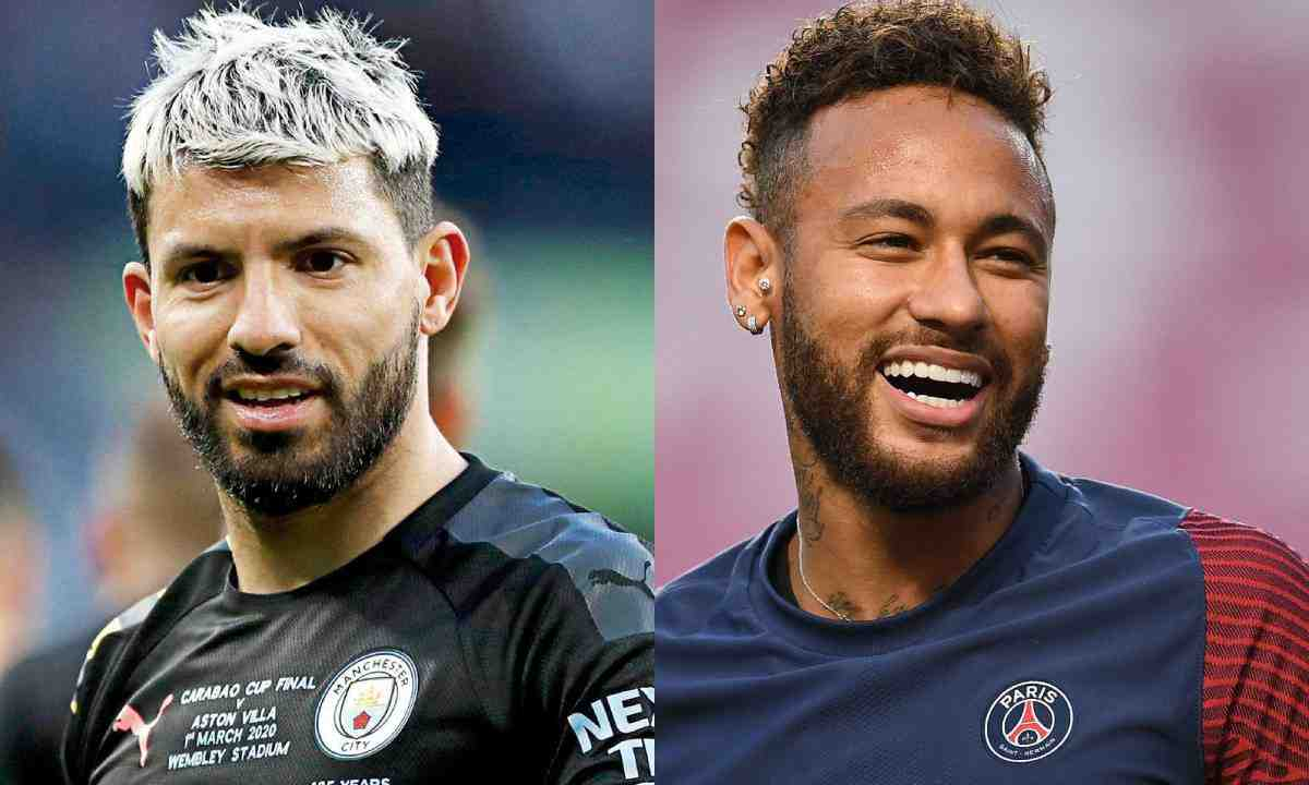 De locos Neymar y el 'Kun' jugando Among Us con Ibai