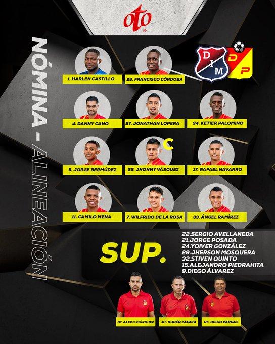 Deportivo Pereira, titulares, DIM, Deportivo Independiente Medellín, liguilla Liga BetPlay 2020