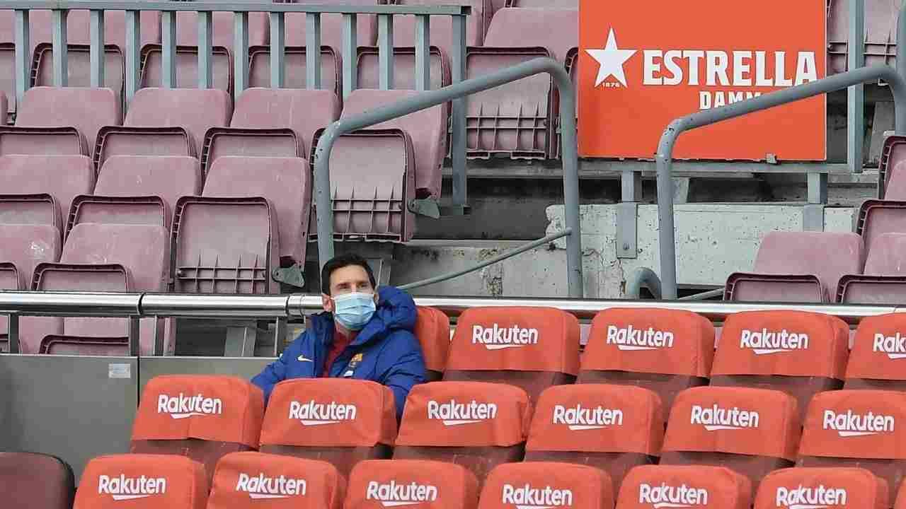¿Por qué Messi fue suplente con el Barcelona?