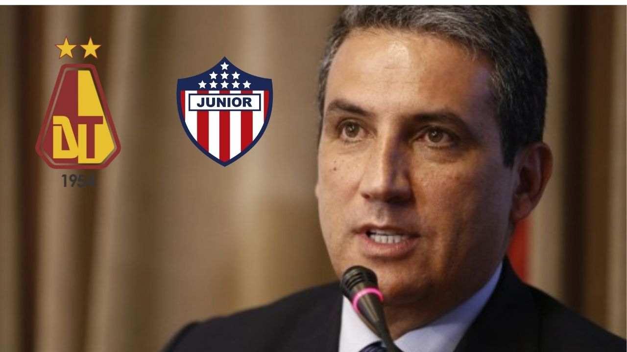 ¿Dónde se jugará Tolima vs. Junior? Presidente de Dimayor respondió