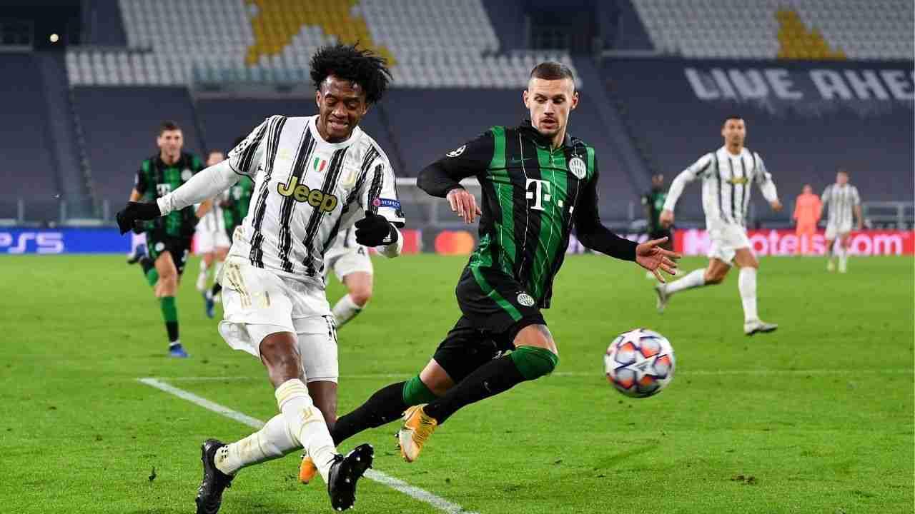 Dos asistencias de Cuadrado para la clasificación de Juventus