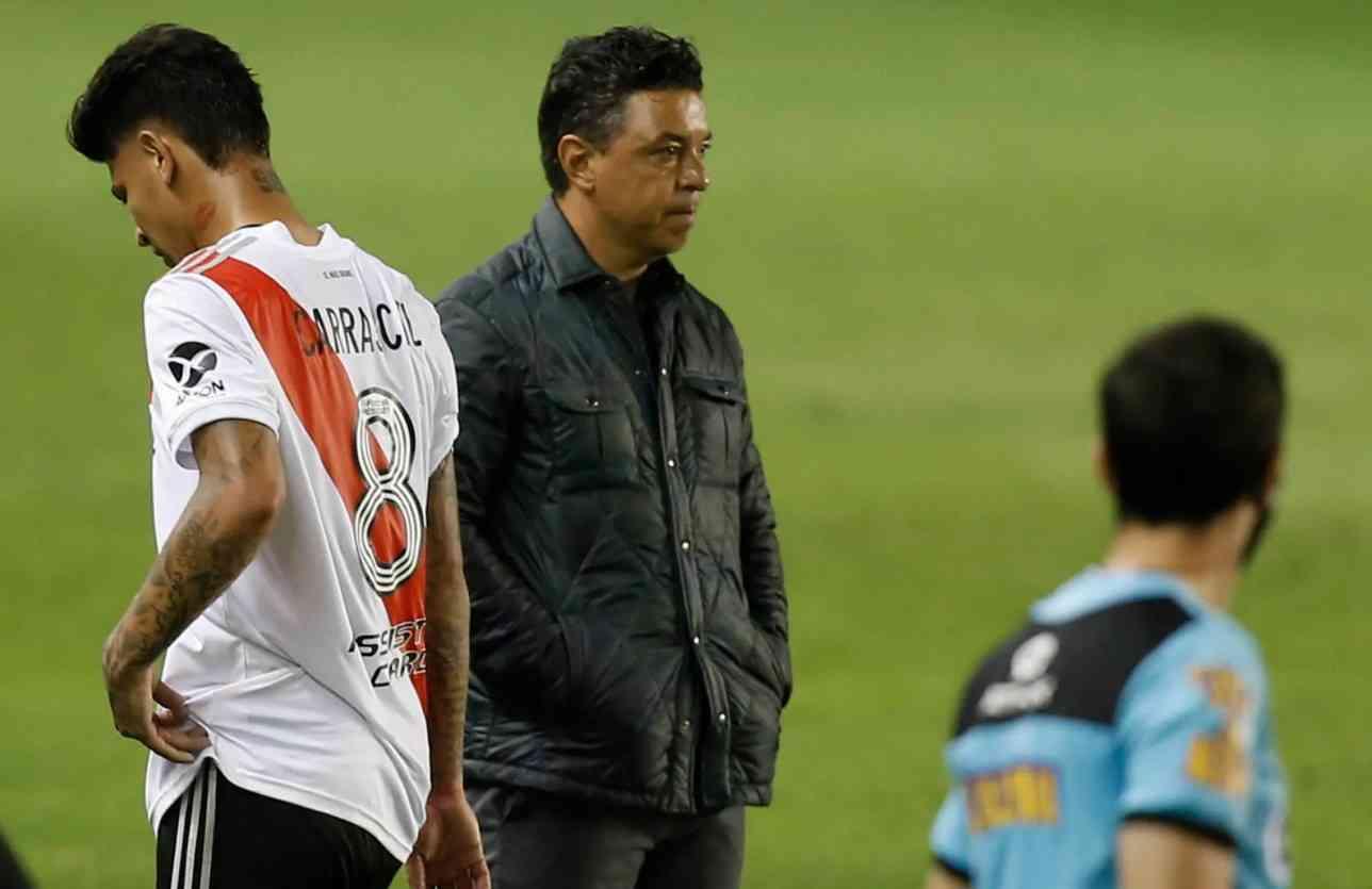 El enojo de Marcelo Gallardo con Jorge Carrascal