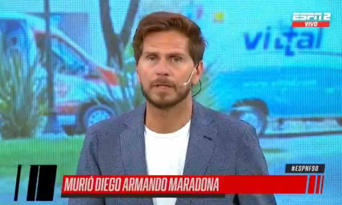 El llanto de Sebastián Vignolo en vivo tras la muerte de Maradona