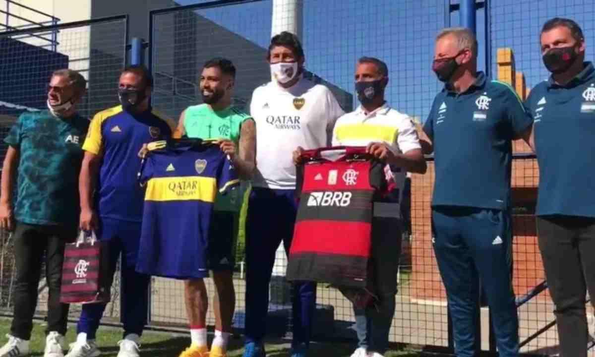 'Gabigol' y su intercambio de camisetas con Boca Juniors