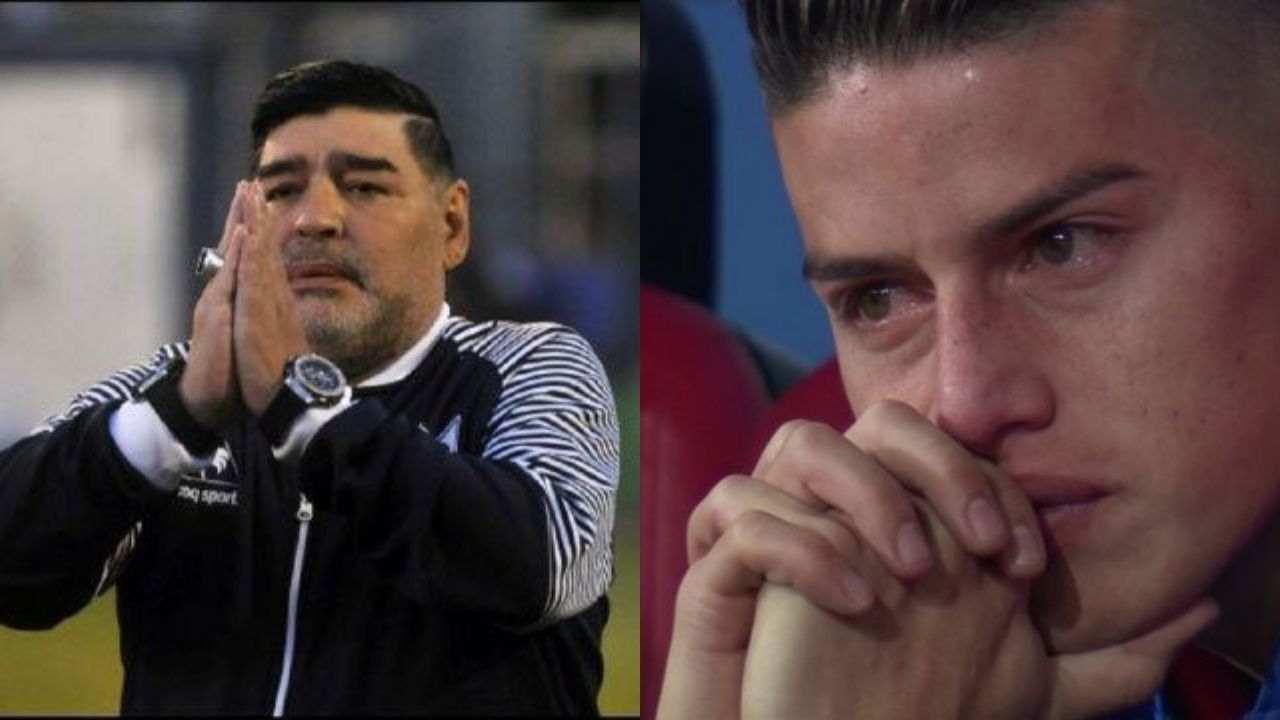 James Rodríguez y la emotiva despedida a Maradona
