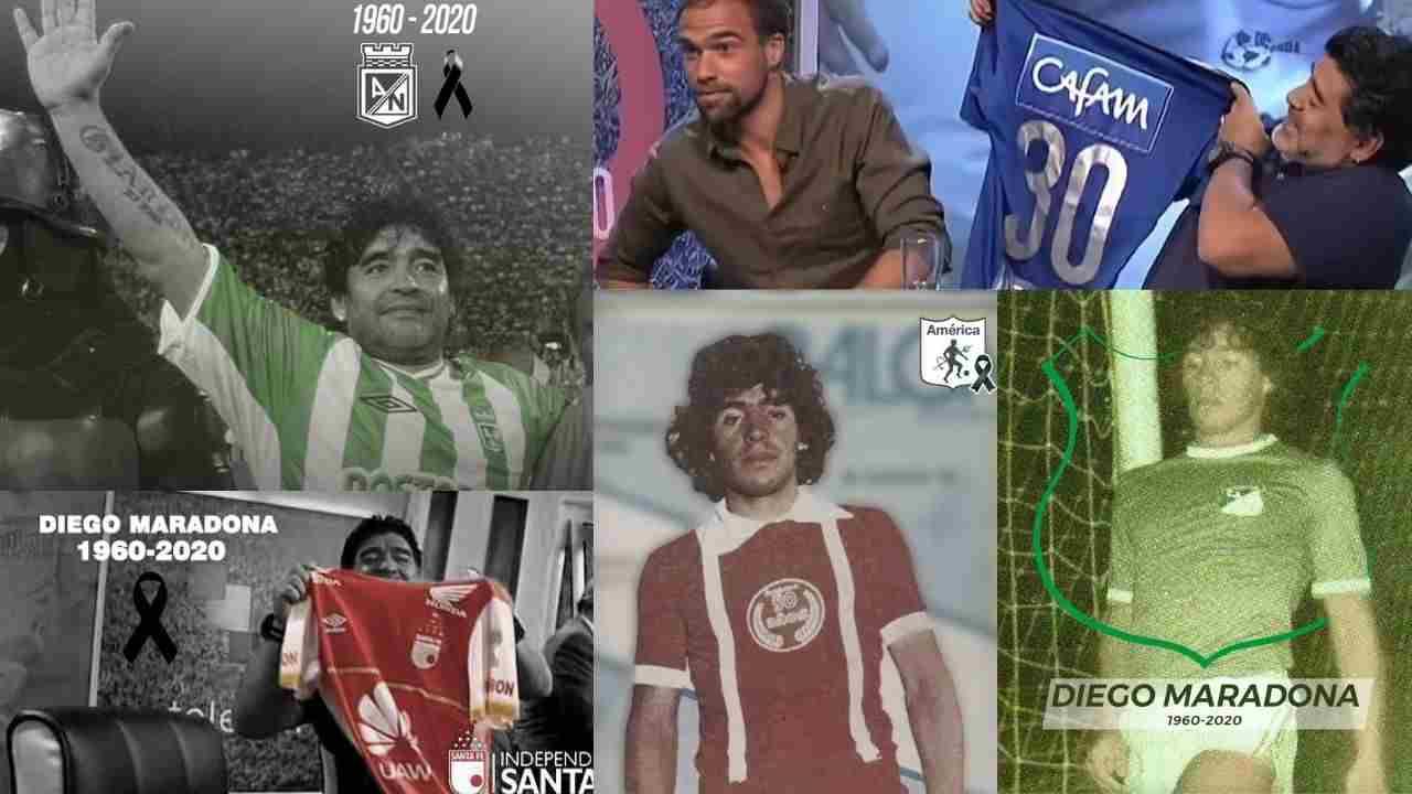 Los mensajes de los clubes colombianos tras muerte de Maradona