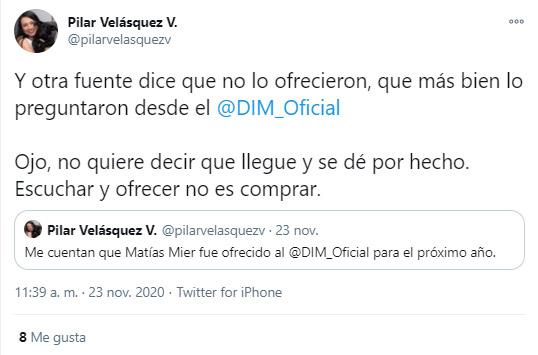 Matías Mier, Equidad Seguros, DIM, Deportivo Independiente Medellín, Liga BetPlay 2020, Pilar Velásquez