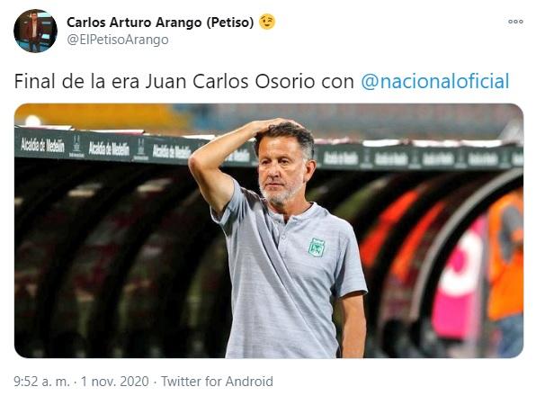 Salida Juan Carlos Osorio, Atlético Nacional Petiso Arango