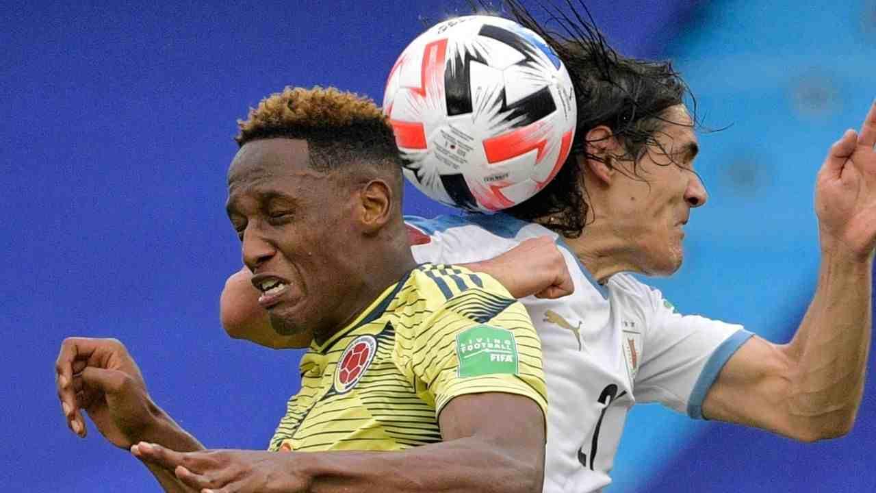 Yerry Mina y su pésimo partido con la Selección Colombia