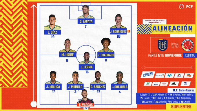David Ospina y los otros cambios en la titular de la Selección Colombia 3