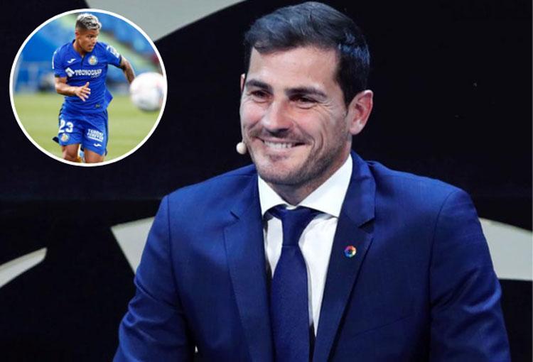 Iker Casillas, uno de los más felices con el gol del Cucho Hernández
