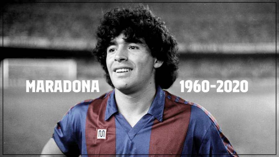 El FC Barcelona despide a Diego Maradona