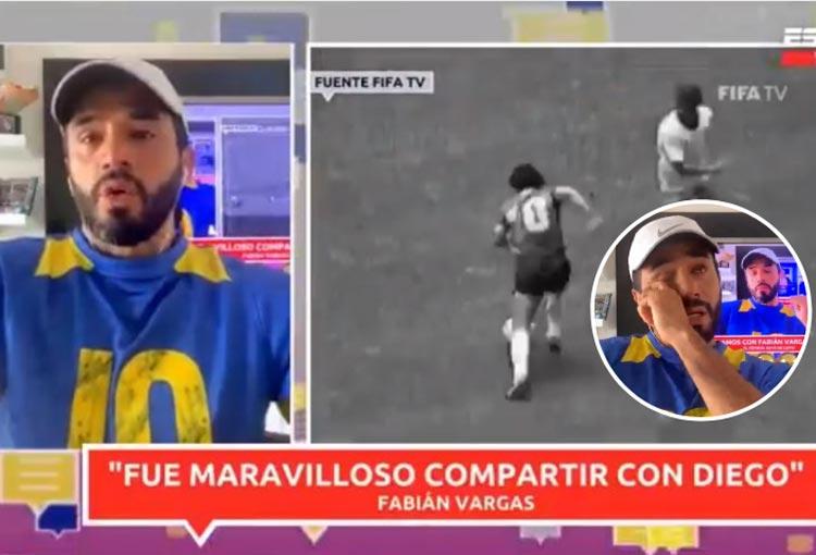 Fabián Vargas, su llanto por Maradona y el gran tesoro que le dejó Diego