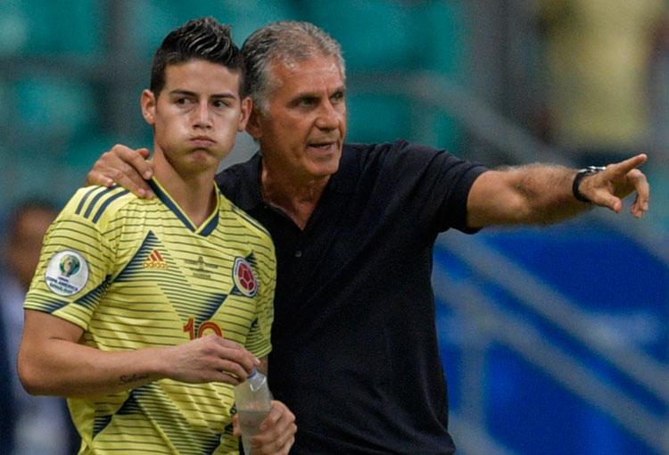 ¿Qué dijo Carlos Queiroz de la lesión de James Rodríguez?