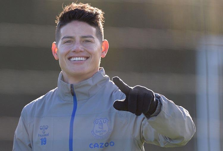 James Rodríguez y las fotografías que emocionan al hincha de Everton