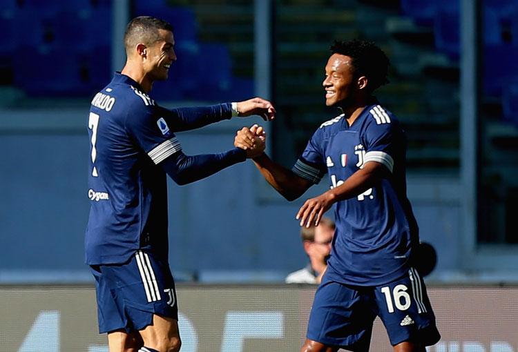 Asistencia de Cuadrado, gol de Cristiano Ronaldo, pero no le alcanzó a Juventus