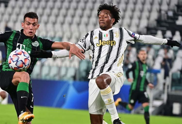 La celebración de Juan Guillermo Cuadrado tras ser figura con la Juventus