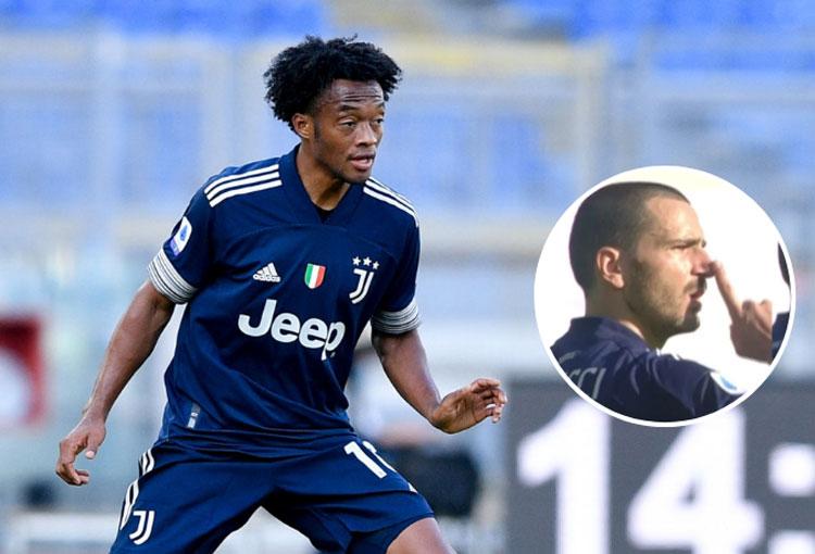 El capitán de Juventus silenciando a Juan Guillermo Cuadrado (video)