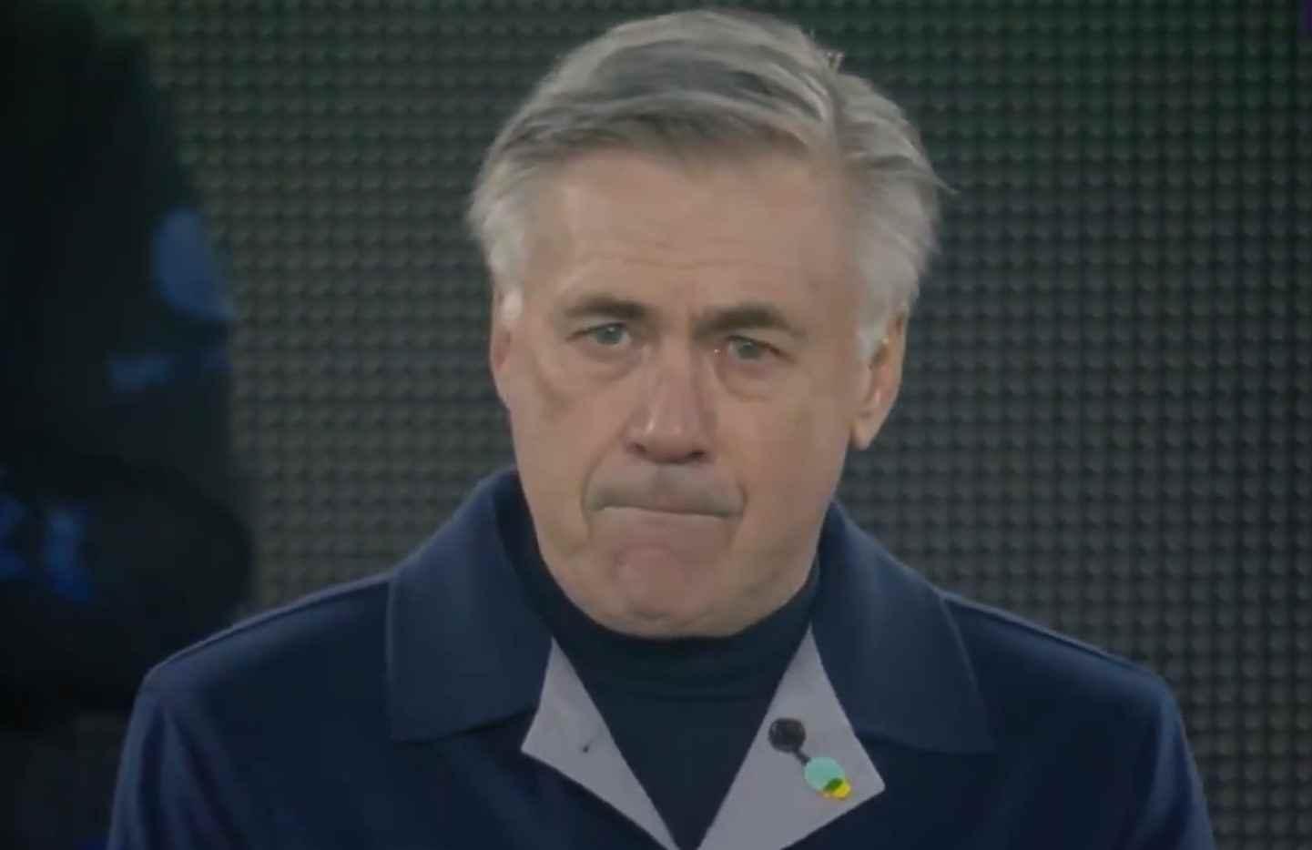 Carlo Ancelotti, bastante conmovido en homenaje a Maradona