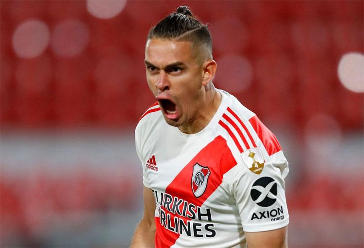 Santos Borré: el colombiano mejor valorado en Copa Libertadores