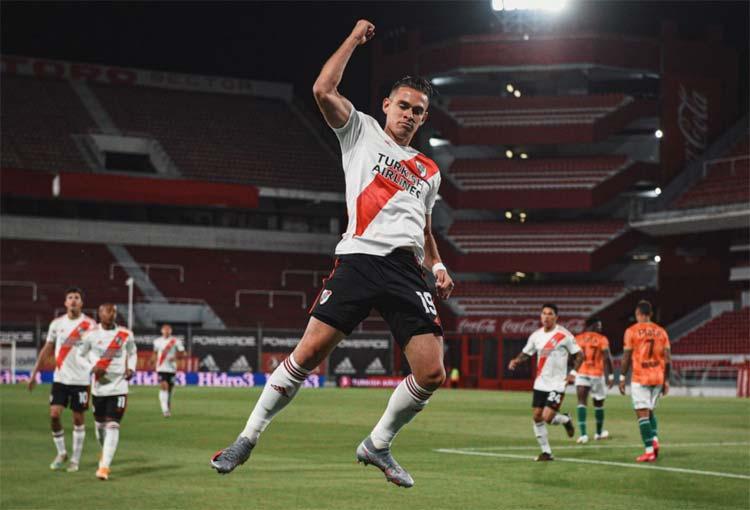 Rafael Santos Borré alcanzó un récord con River Plate