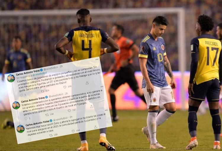 Carlos Antonio Vélez y la dura crítica a los jugadores de la Selección Colombia