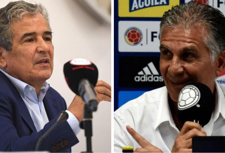 Selección Colombia hoy: Carlos Queiroz, Jorge Luis Pinto y sus novedades