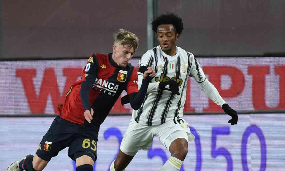 Cuadrado provoca un penal y la Juventus superó al Genoa