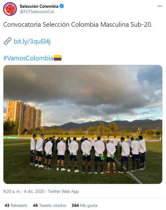 DIM, Deportivo Independiente Medellín, Selección Colombia sub-20, convocatoria, Juan David Mosquera, Juan Carlos Díaz, Edwin Mosquera