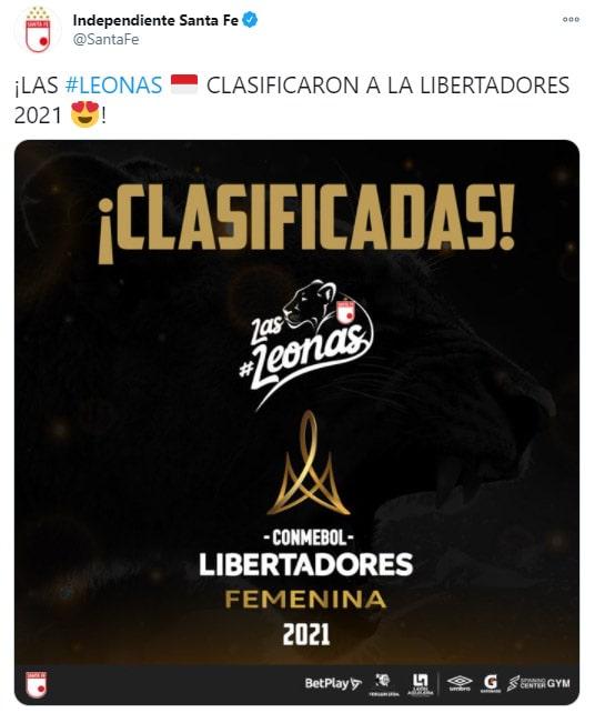 Independiente Santa, celebración, Deportivo Independiente Medellín, DIM, Liga Femenina BetPlay 2020, Copa Libertadores Femenina 2020