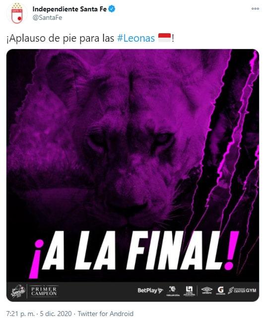 Independiente Santa, celebración, Deportivo Independiente Medellín, DIM, Liga Femenina BetPlay 2020