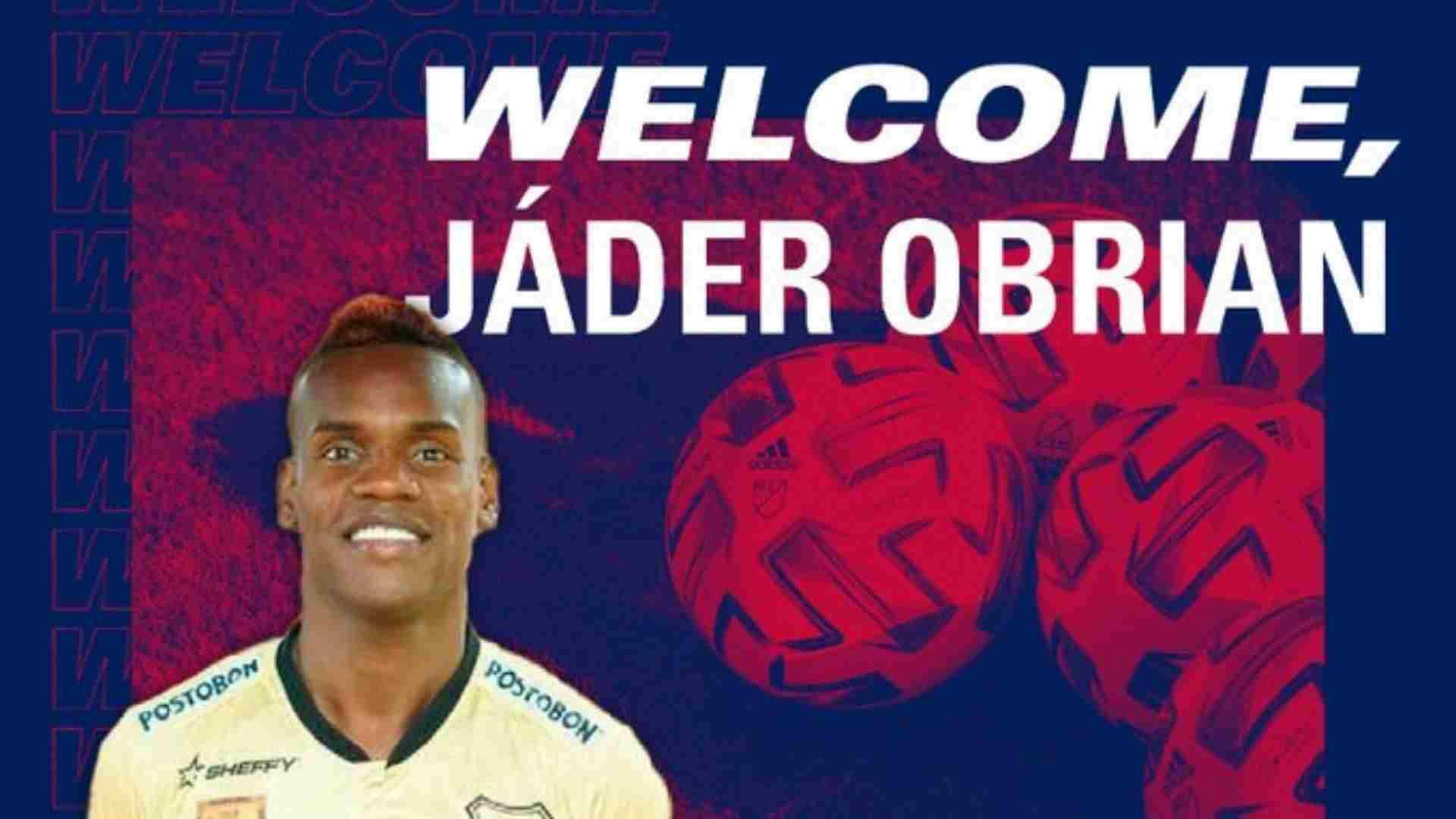 Jáder Obrian fue presentado en su nuevo equipo de la MLS