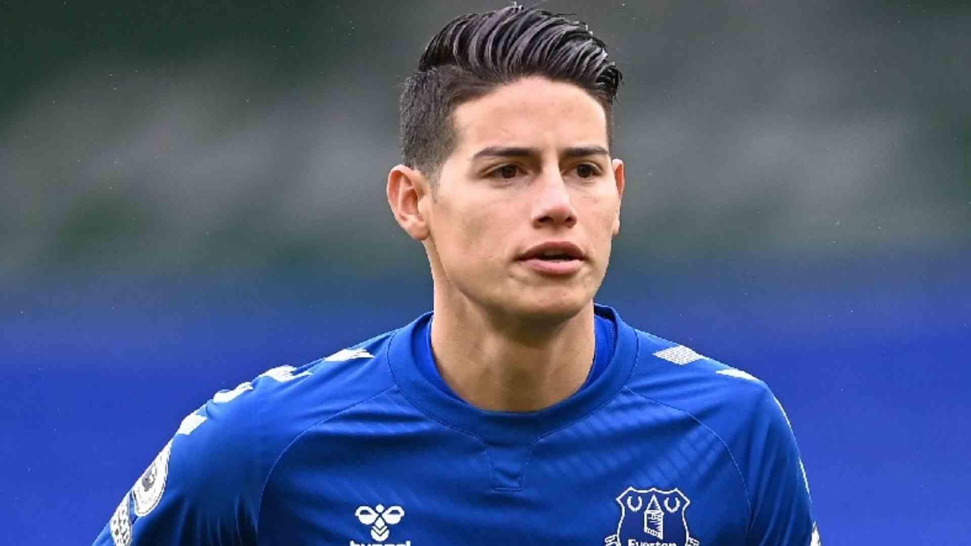 James Rodríguez, baja del Everton en lo que resta del año