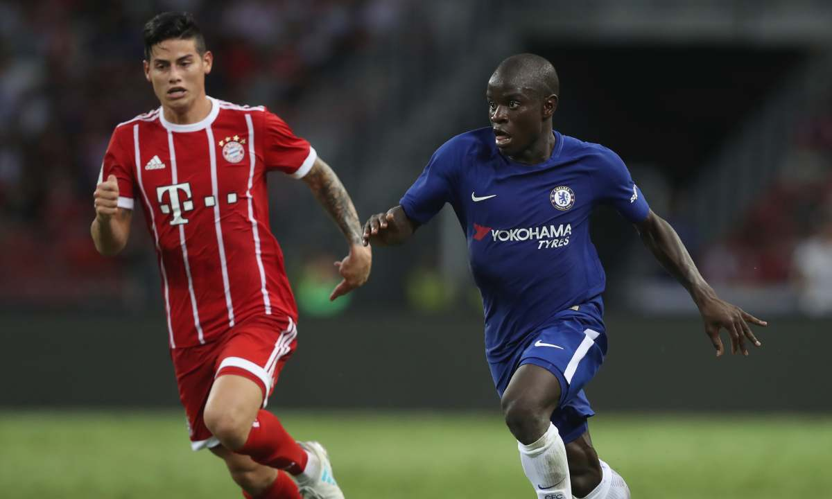 La única vez en la que James jugó contra el Chelsea en su carrera