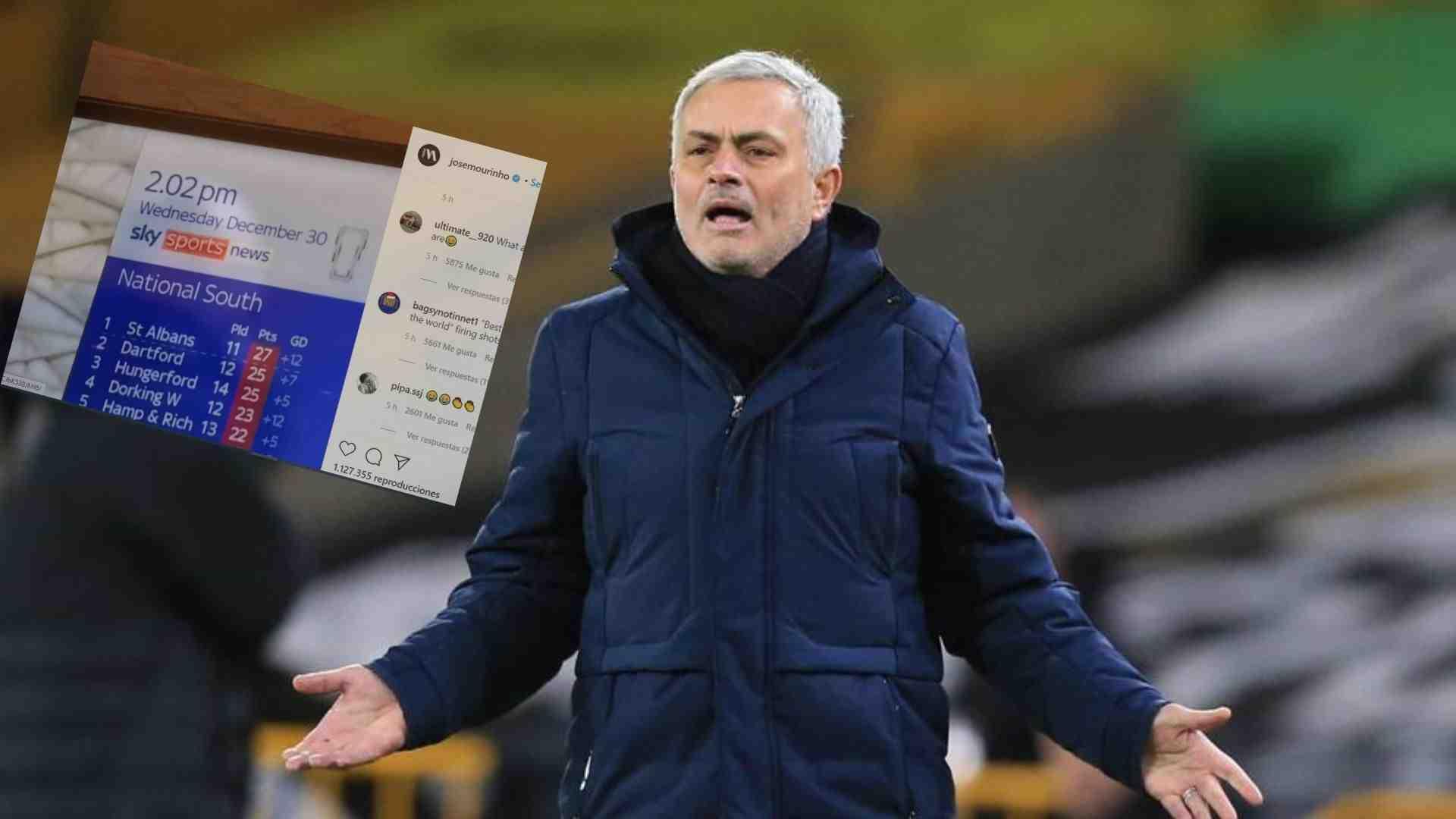 """Mourinho y su crítica a la Premier League: """"La mejor liga del mundo"""""""