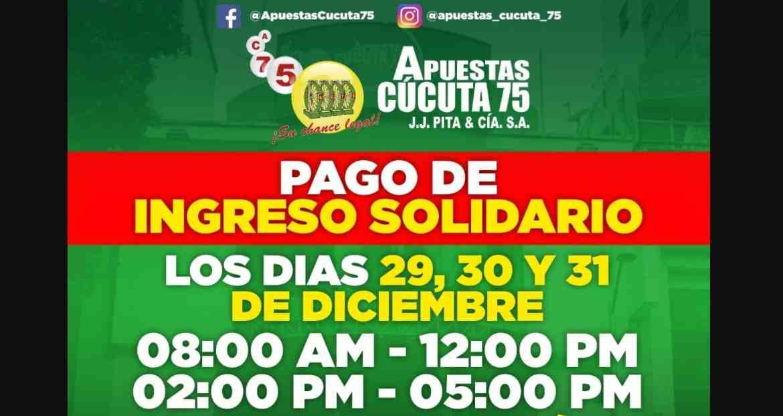 Pagos del Ingreso Solidario en Apuestas Cúcuta 75