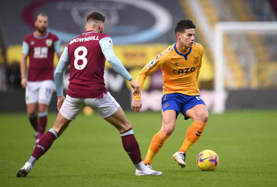 ¿Qué le pasó a James Rodríguez en el Burnley vs. Everton?