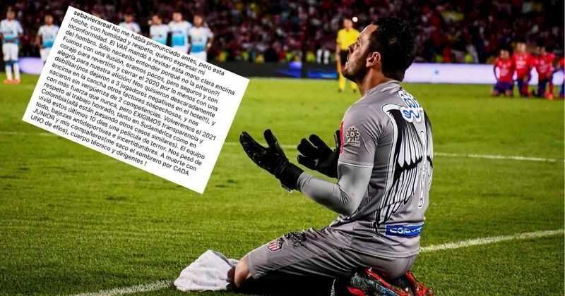 """Sebastián Viera y el """"sospechoso"""" arbitraje en la eliminación de Junior en Copa Sudamericana"""