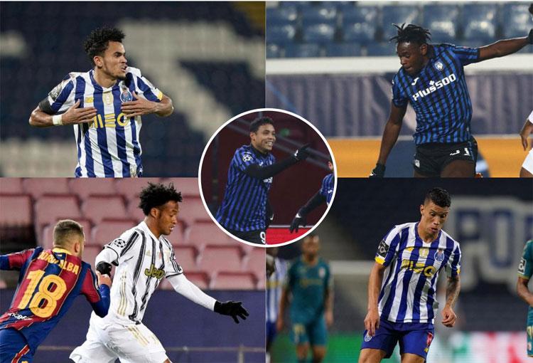 Champions League, colombianos que siguen y los bombos para octavos de final