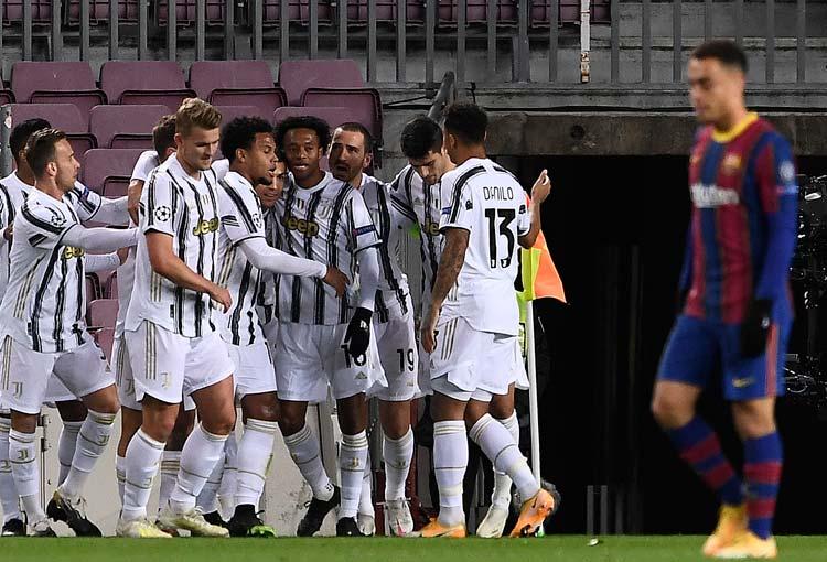 ¡Asistencia de Cuadrado y golazo de Juventus al Barcelona!