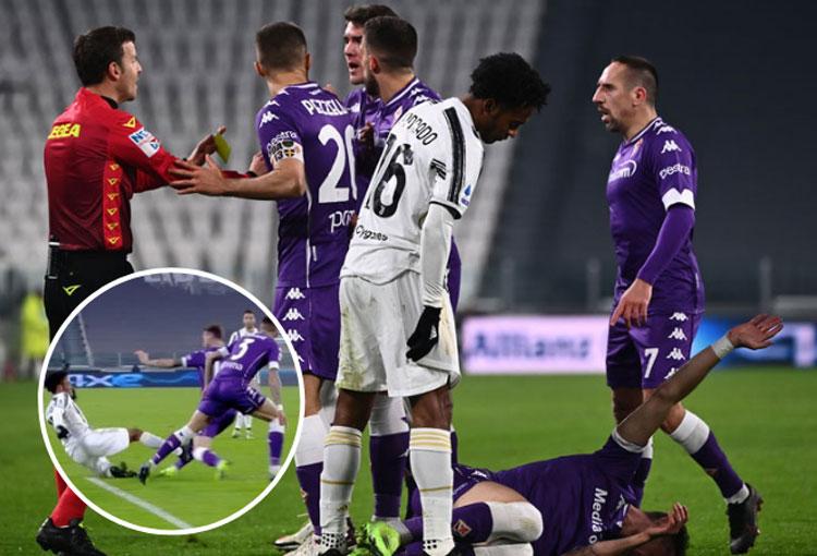 Expulsión para Juan Guillermo Cuadrado y antirrécord para Juventus