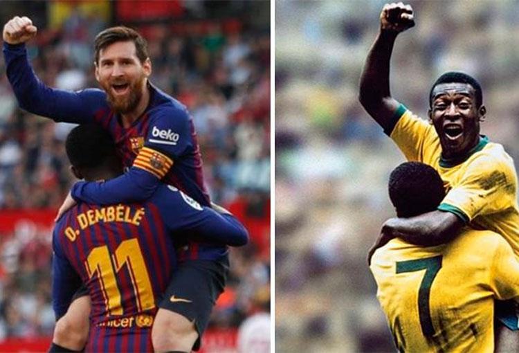Lionel Messi a punto de destronar récord de Pelé