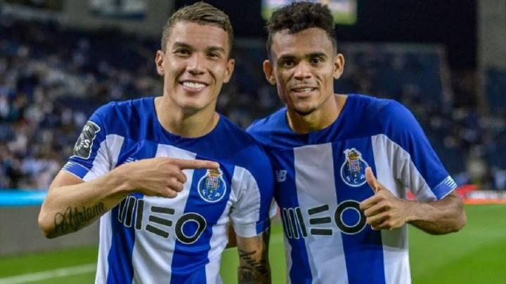 Matheus Uribe y Luis Díaz, en octavos de Champions con Porto