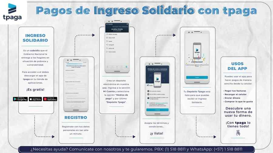 Pagos de Ingreso Solidario con tpaga