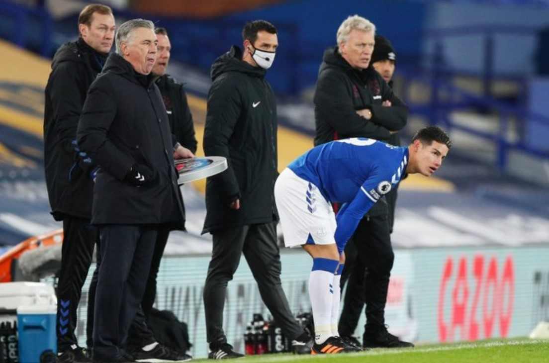 Así le fue a James Rodríguez en su regreso con el Everton