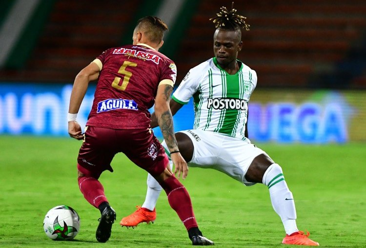 Déinner Quiñones, Atlético Nacional, Copa BetPlay 2020, Deportes Tolima
