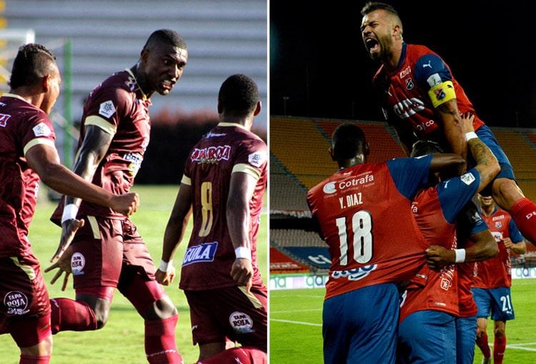 Deportivo Independiente Medellín, DIM, Deportes Quindío, Deportes Tolima, Deportivo Pasto, Copa BetPlay 2020