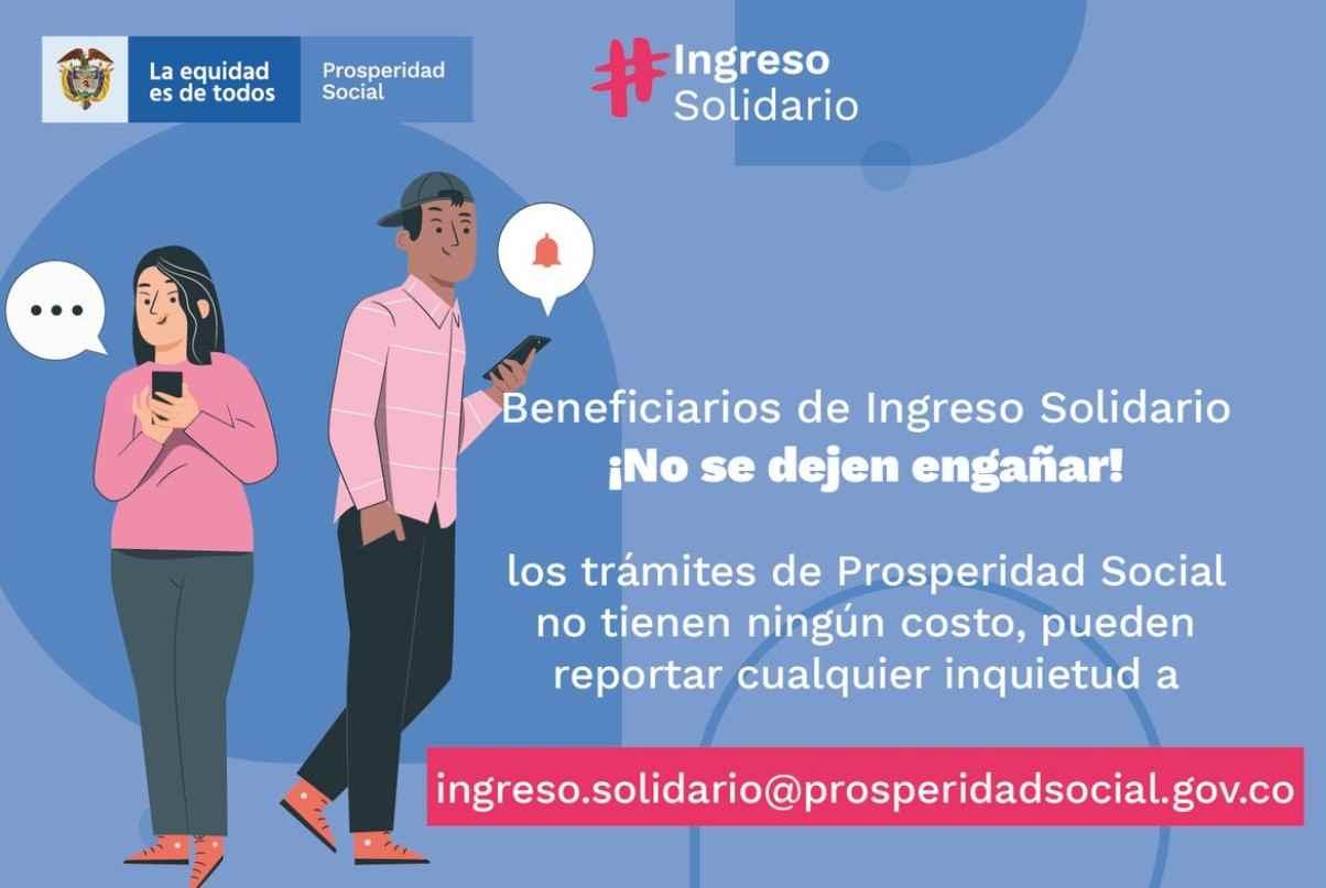 Hay inscripciones para el Ingreso Solidario en el 2021