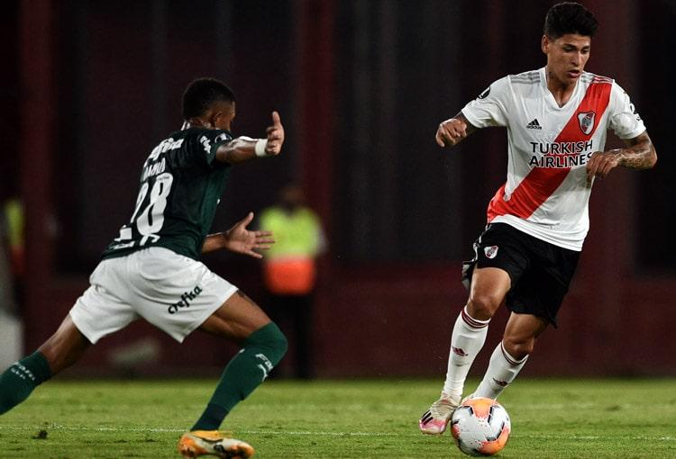 Jorge Carrascal, River Plate, Palmeiras, Copa Libertadores 2020