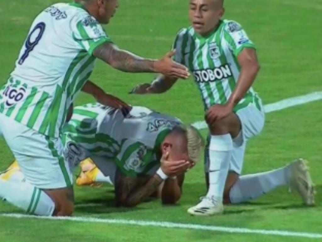 Neyder Moreno explicó la razón del llanto tras su gol con Atlético Nacional